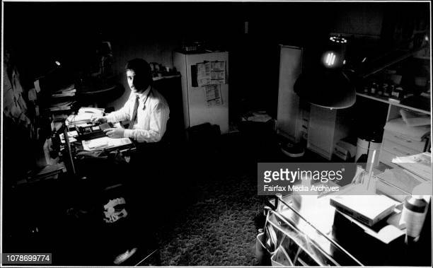Dr Con Costa seen here in his surgery at 873 New Canterbury rd Rurlstone Park where he received a Death Threat on his answering machine September 1...