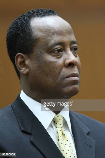 Dr Conrad Murray appears at Los Angeles Superior Court on April 5 2010 in Los Angeles California Murray is charged with involuntary manslaughter in...
