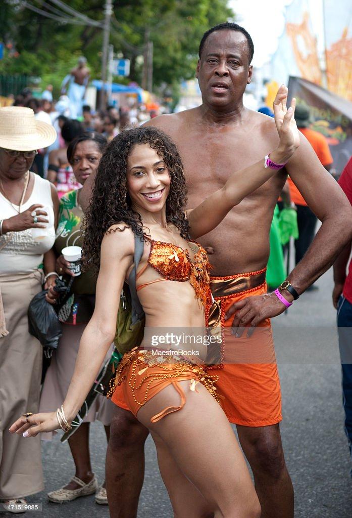 Dr. Conrad Murray enjoying the Carnival in Trinidad : Stock Photo