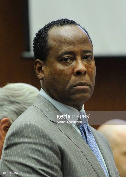 Dr Conrad Murray waits to leave the courtroom for the day during the final stage of Conrad Murray's defense in his involuntary manslaughter trial in...