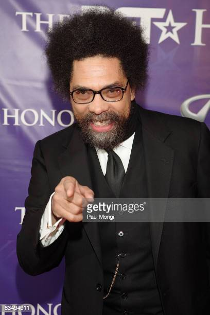 Dr Cornel West arrives at the first annual BET Honors awards gala at the Warner Theater on January 12 2008 in Washington DC