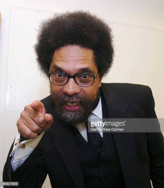Dr Cornel West attends AllHipHop Social Lounge at Michael Schimmel Center For the Arts September 19 2007 in New York City