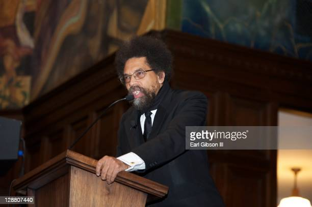 Dr Cornel West speaks at the Poverty Tour Town Hall Meeting on October 9 2011 in Los Angeles California