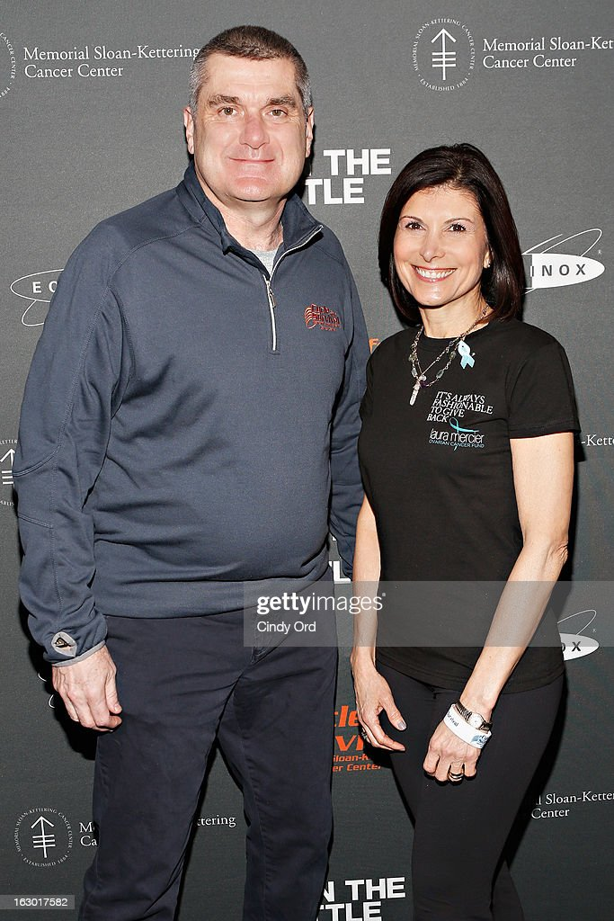 Dr. Craig Thompson and Claudia Poccia attend the 2013 Cycle For Survival Benefit at Equinox Rock Center on March 3, 2013 in New York City.