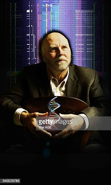 Dr Craig Venter one of the world's leading scientists and the leader of the team that decoded the human genome speaking at a lecture at Melbourne...