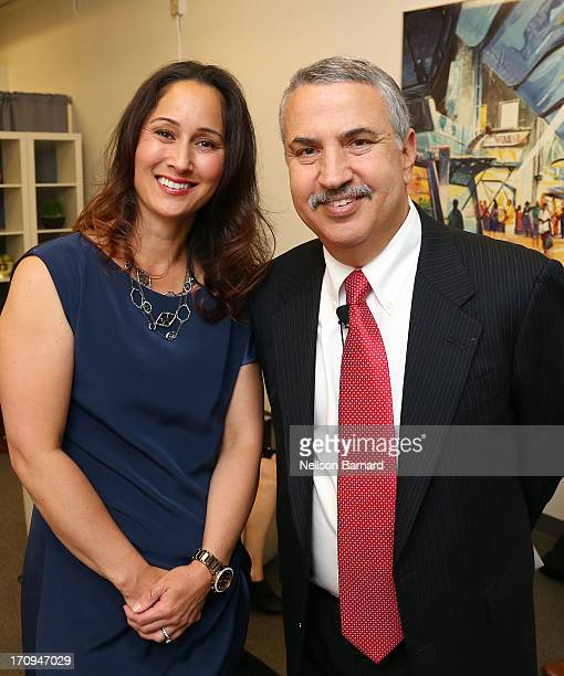 Dr Cynthia Breazeal of the MIT Personal Robots Group Media Lab and host Thomas L Friedman of The New York Times attend The New York Times Global...