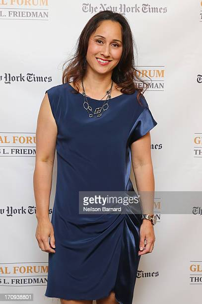 Dr Cynthia Breazeal of the MIT Personal Robots Group Media Lab attends The New York Times Global Forum with Thomas L Friedman at the Metreon on June...