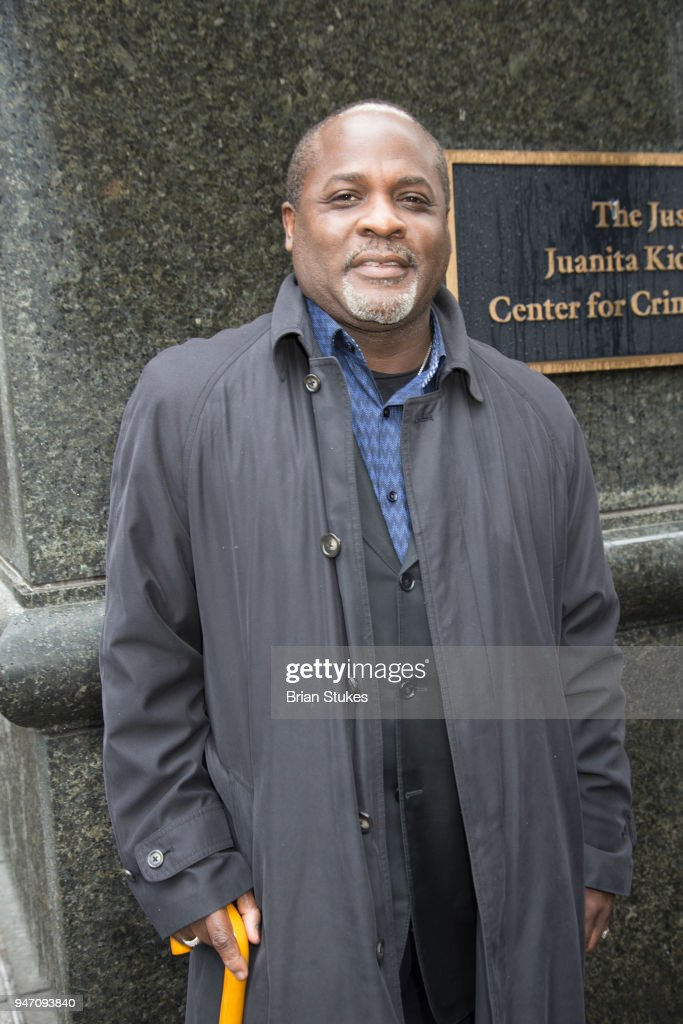 Dr. Damone Jones attends a rally protesting the imprisionment of Meek Mill outside the Philadelphia Criminal Justice Center during the rapper's status hearing on April 16, 2018 in Philadelphia, Pennsylvania.