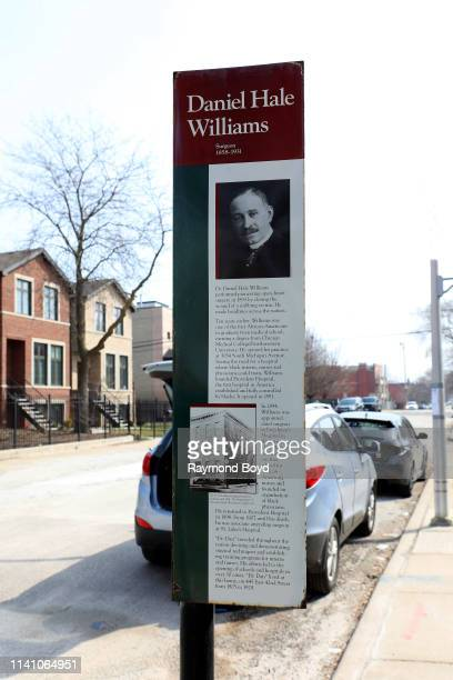 Dr Daniel Hale Williams Historic marker in Chicago Illinois on April 6 2019