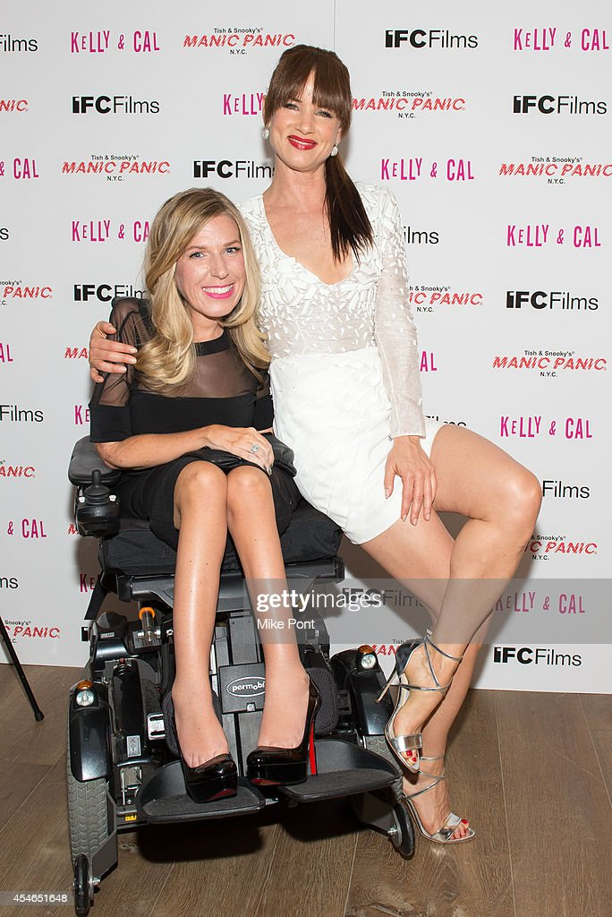 Dr. Danielle Sheypuk (L) and Actress Juliette Lewis attend the 'Kelly And Cal' New York Screening at Crosby Street Hotel on September 4, 2014 in New York City.