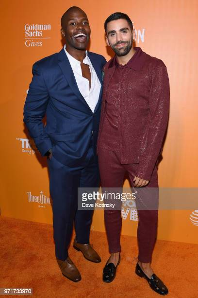 Dr Darien Sutton and Teen Vogue Chief Content Officer Phillip Picardi attend The Trevor Project TrevorLIVE NYC at Cipriani Wall Street on June 11...