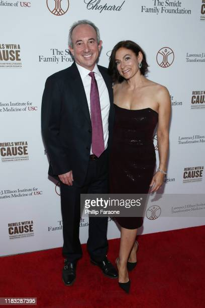 Dr David Agus and Amy Povich attend the Rebels With A Cause Gala 2019 at Lawrence J Ellison Institute for Transformative Medicine of USC on October...