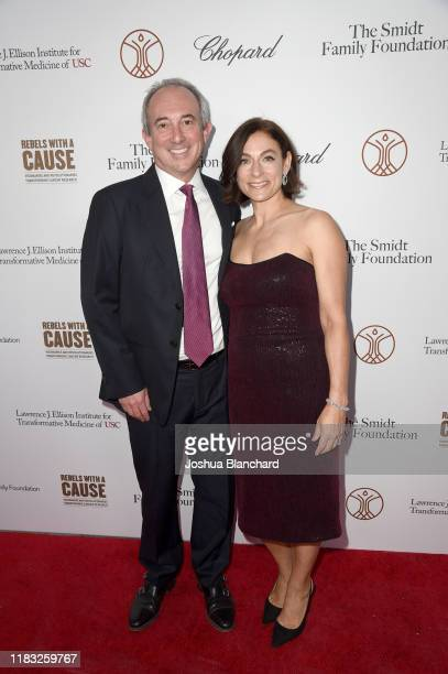 Dr David Agus and Amy Povich attend the Transformative Medicine of USC Rebels with a Cause GALA at on October 24 2019 in Santa Monica California