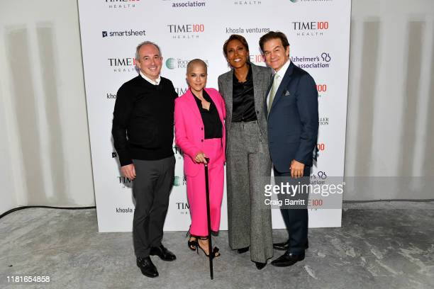 Dr. David Agus, Selma Blair, Robin Roberts and Dr. Mehmet Oz arrive at the TIME 100 Health Summit at Pier 17 on October 17, 2019 in New York City.