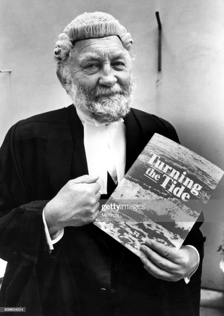 Dr David Bellamy dressed as a barrister for his new documentary series Turning the Tide on 30th June 1987 : News Photo