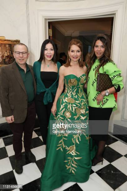Dr David Fox Jane Scher Jean Shafiroff and Libbie Mugrabi attend Martin and Jean Shafiroff Host St Patrick's Day Cocktails Party in Honor of Stony...
