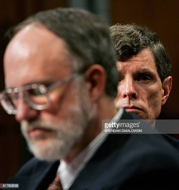 Dr David Graham associate director for science of the Office of Drug Safety at the FDA's Center for Drug Evaluation and Research looks over the...