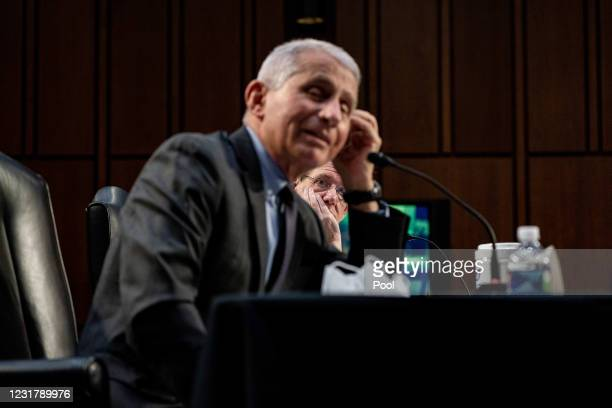 Dr. David Kessler, Chief Science Officer of the White House COVID-19 Response Team, listens during a hearing, with the Senate Committee on Health,...