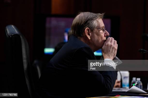 Dr. David Kessler, Chief Science Officer of the White House COVID-19 Response Team, listens during a hearing with the Senate Committee on Health,...