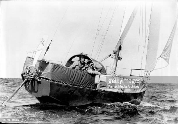 Dr David Lewis sets out from Rushcutter Bay fro his 7 month solo trip to the Antarctic in his 32 foot sloop Ice Bird October 19 1972