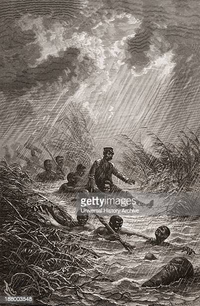 Dr David Livingstone Being Carried Through A Swamp By Porters During His Expedition To Africa In 1872 David Livingstone 1813 To 1873 Scottish...