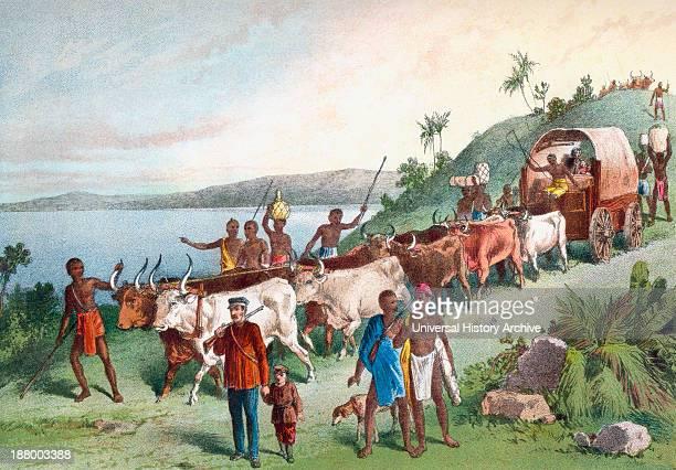 Dr David Livingstone's Arrival At Lake Ngami Botswana South Africa In 1849 David Livingstone 1813 – 1873 Scottish Congregationalist Pioneer Medical...