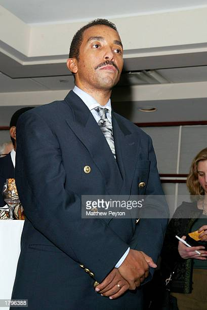Dr David Molapo attends the New York premiere of Artisan's Amandla A Revolution In Four Part Harmony at South African Consulate on February 13 2003...
