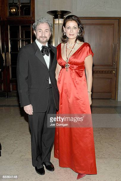 Dr David Orentreich and Marina Killery attend The Frick Collection Autumn dinner at The Frick Collection on October 20 2008 in New York City