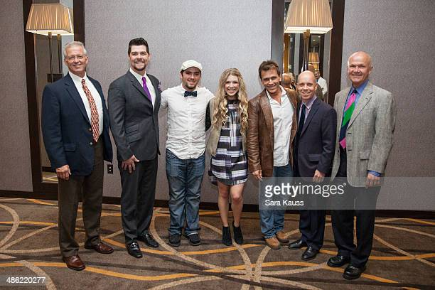 Dr David Vanderpool Jason Crabb Larry Reeves Emily Reeves Scott Reeves Scott Hamilton and Rudy Kalis attend the 3rd annual Live Beyond Fundraiser at...
