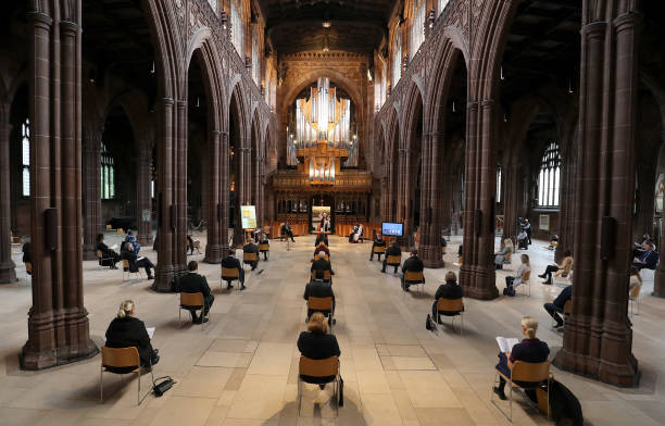 GBR: Manchester Cathedral Holds Memorial Service For Coronavirus Victims