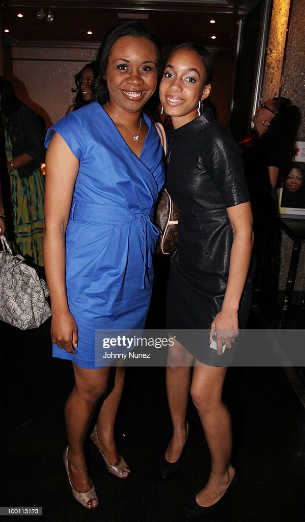 Dr. Dawn Jones-Sylla and Paloma Grate attend a press reception for 'Souls of My Young Sisters' at Covet on May 20, 2010 in New York City.