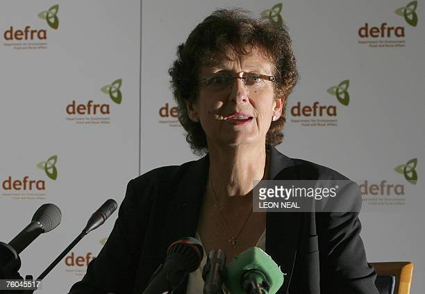 Dr Debby Reynolds, the Director General for Animal Health and Welfare and Chief Veterinary Officer for Defra and the UK, holds a press conference at...