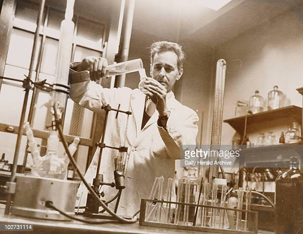 Dr Dennis Bauer in his laboratory 13 December 1963 'Dr Dennis Bauer in his lab at the Wellcome Foundation'