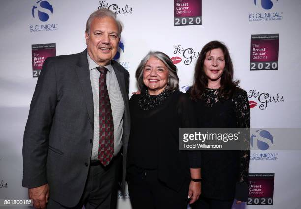 Dr Dennis J Slamon Les Girls Leadership Award recipient NBCC President Fran Visco and Lauren Shuler Donner attend National Breast Cancer Coalition...