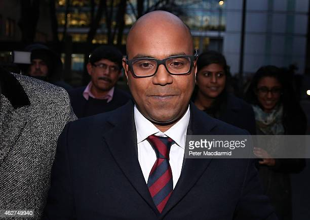 Dr Dhanuson Dharmasena leaves Southwark Crown Court after being acquitted of performing female genital mutilation on February 4 2015 in London...