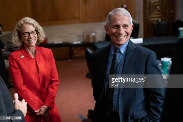 Dr. Diana Bianchi, director of the Eunice Kennedy Shriver National Institute of Child Health and Human Development, left, and Dr. Anthony Fauci,...