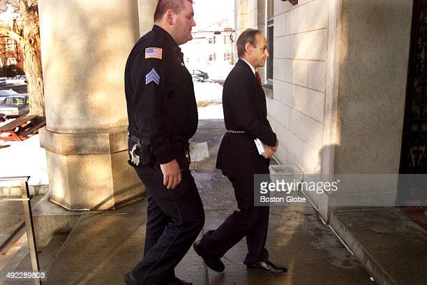 Dr Dirk Greineder arrives for today's motion hearing at Norfolk Superior Court in Dedham on Jan 25 2001 Greineder an allergist at Brigham and Womens...