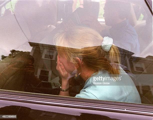 Dr Dirk Greineder's daughter Kirsten Greindeder leaves Norfolk Superior Court in Dedham Mass on June 29 after her father was convicted of firstdegree...