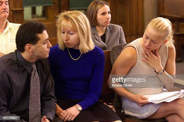 Dr Dirk Greineder's son Colin left and daughters Kirsten center and Britt right attended his trial at Norfolk Superior Court on June 6 2001 Greineder...