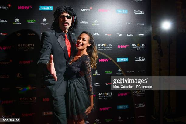 Dr Disrespect attending the NOW TV Esports Industry Awards 2017, at the Brewery in London. PRESS ASSOCIATION Photo. Picture date: Monday November...