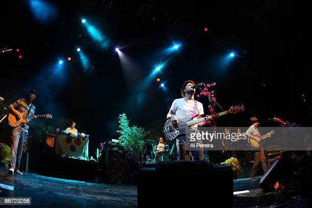 Dr Dog performs during the 31st annual Celebrate Brooklyn Summer Season at Prospect Park Bandshell on June 27 2009 in New York City