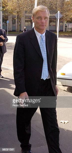 Dr Donald Stevens defence lawyer for Lesley Martin leaves the Wanganui Courthouse Wanganui New Zealand Monday Mar 15 2004 Lesley Martin is facing...