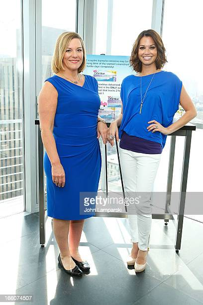 Dr Donnica Moore and Actress Melissa Rycroft attends the Clearblue Advanced Ovulation Test Launch at The Hotel on Rivington Penthouse on April 8 2013...