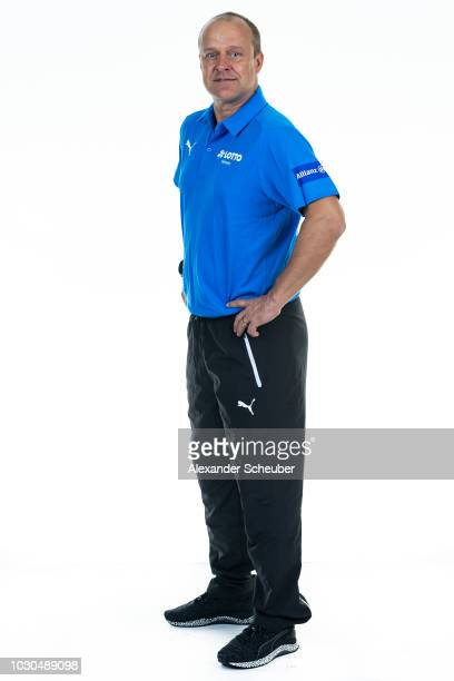 Dr Dr Ingo Tusk poses during the 1 FFC Frankfurt Women's team presentation on September 7 2018 in Frankfurt am Main Germany i