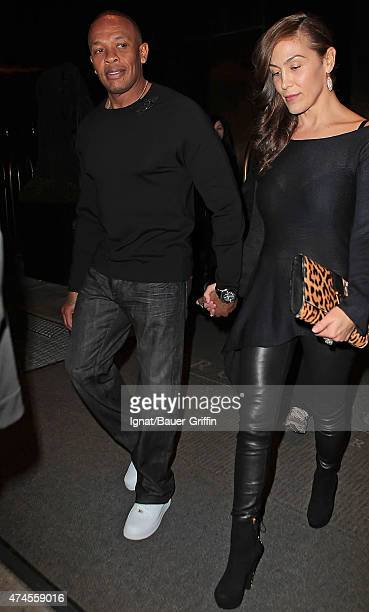 Dr Dre and his wife Nicole Threatt are seen on October 16 2012 in New York City
