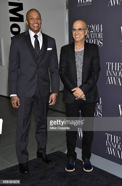 Dr Dre and Jimmy Iovine attend WSJ Magazine 2014 Innovator Awards at Museum of Modern Art on November 5 2014 in New York City