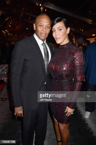 Dr Dre and Nicole Young attend HBO's 'The Defiant Ones' premiere at Paramount Studios on June 22 2017 in Los Angeles California