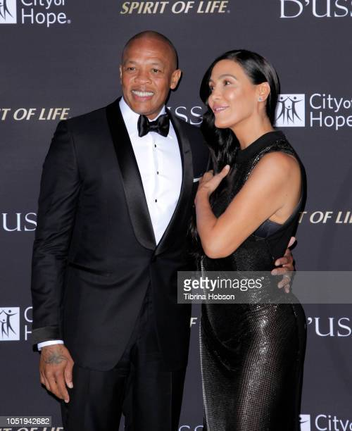 Dr Dre and Nicole Young attend the City of Hope Gala on October 11 2018 in Los Angeles California