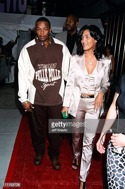 Dr Dre and Nicole Young during 1996 MTV Video Music Awards Arrivals at Las Vegas Country Club in Los Angeles California United States