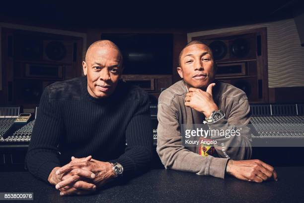 Dr Dre and Pharrell Williams are photographed for The Hollywood Reporter on March 23 2017 in Los Angeles California
